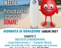 Ciampino – 3 luglio: giornata di donazione del sangue
