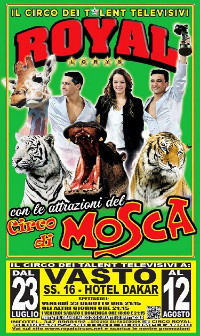 Il Circo Royal con le attrazioni internazionali del Circo di Mosca a Vasto