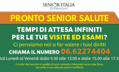 Liste d'attesa, da Senior Italia FederAnziani al via Pronto Senior Salute