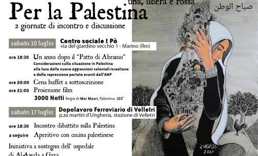 VELLETRI – PER LA PALESTINA: due giornate di incontro e discussione