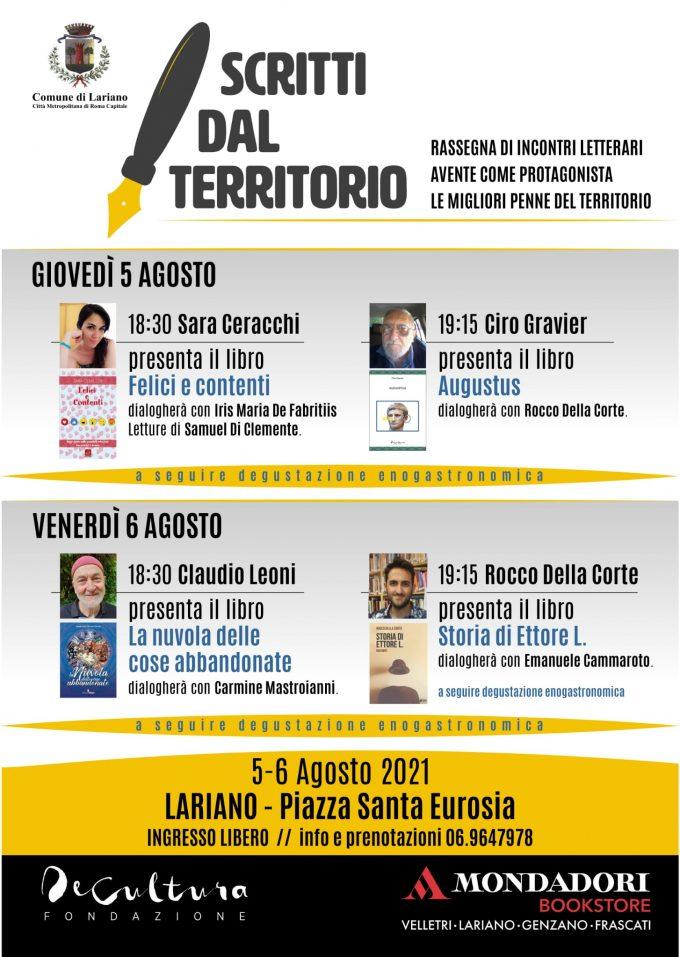 """""""Scritti dal territorio"""", una rassegna letteraria a Lariano: due giorni di eventi in Piazza Sant'Eurosia"""