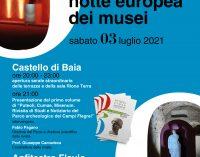 Notte Europea dei Musei 2021, il 3 luglio aperture serali  al Castello di Baia e Anfiteatro di Pozzuoli