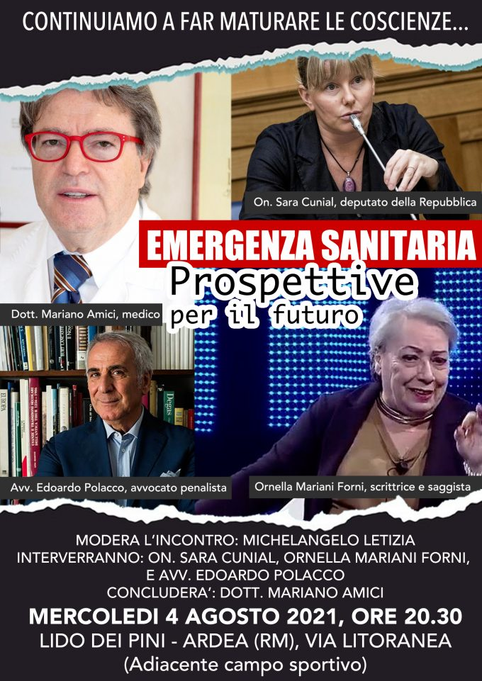 """Ardea – """"Emergenza sanitaria: prospettive per il futuro"""""""