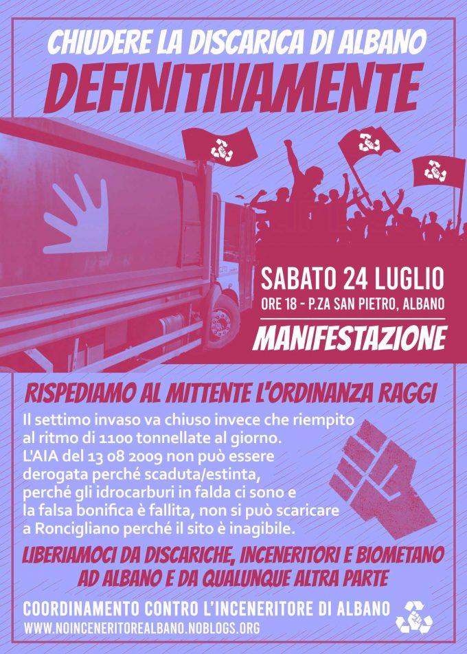 Sabato 24 ad Albano: Manifestazione contro la discarica!