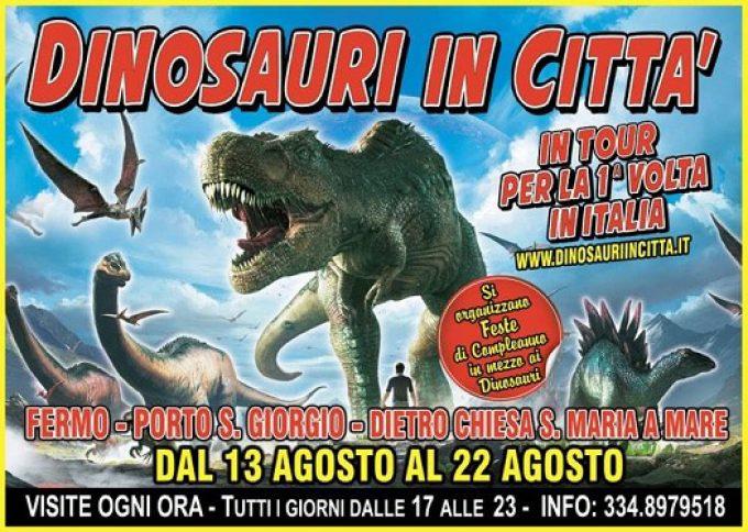 """A Fermo il tour """"Dinosauri in città"""""""
