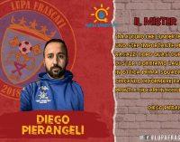La Lupa Frascati comunica di avere affidato il gruppo Under 18 a mister Diego Pierangeli.