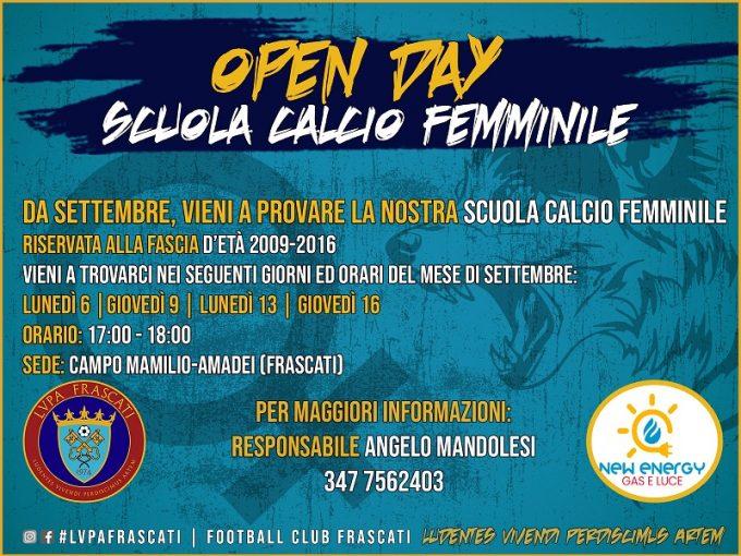 Anche nella stagione 2021-2022 la LVPA Frascati ha organizzato la Scuola Calcio Femminile.