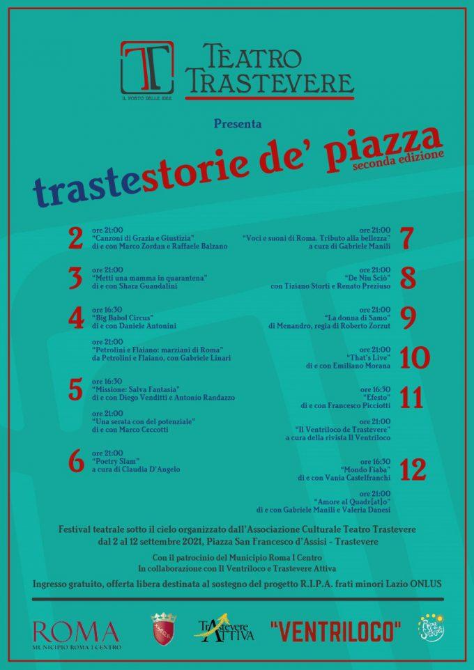 Teatro Trastevere – TRASTESTORIE (DE' PIAZZA)  Seconda Edizione