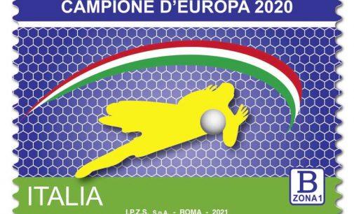 """Emissione francobollo """"Campioni d'Europa di calcio 2020"""""""