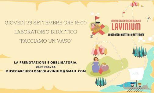 Gli appuntamenti di questa settimana al Museo Civico Archeologico Lavinium