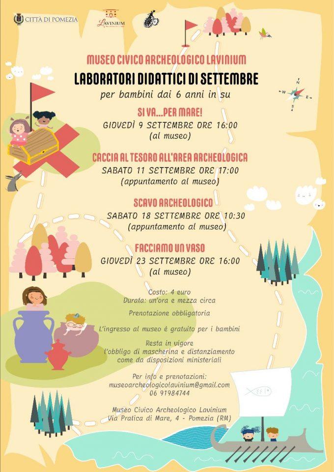 Laboratori didattici settembre e visite guidate al Museo Civico Archeologico Lavinium