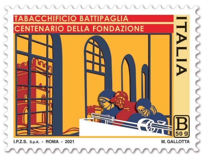 Emissione francobollo Tabacchificio di Battipaglia