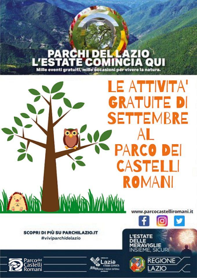 Gli eventi gratuiti di settembre nel Parco dei Castelli Romani