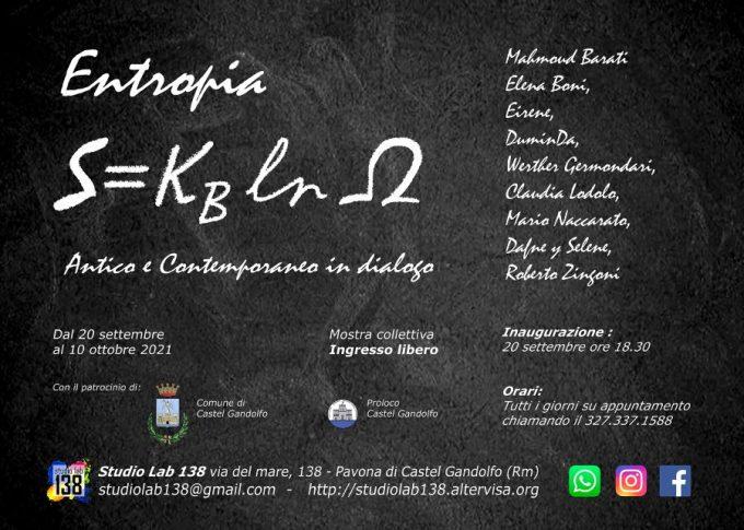 """""""Entropia – Antico e Contemporaneo in dialogo"""", mostra inaugurata il 20 settembre"""