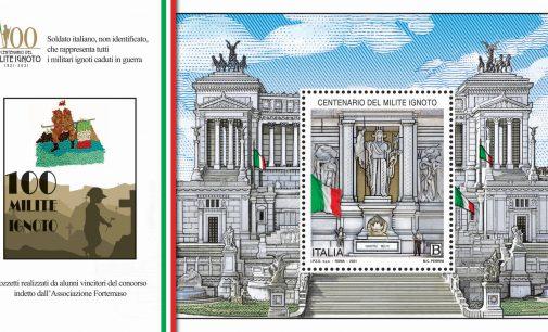 Emissione francobollo centenario Milite Ignoto