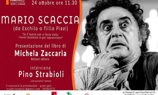 Teatro Villa Pamphilj, Roma – MARIO SCACCIA: AVVENTURE D'ATTORE DA ESCHILO A NILLA PIZZI