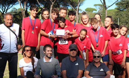 Atletica Frascati, dieci atleti nella rappresentativa Roma Sud che ha vinto il titolo regionale Ragazzi